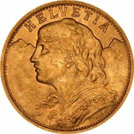 Χρυσό νόμισμα Ελβετίας
