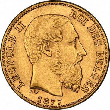 Χρυσό νόμισμα Βελγίου