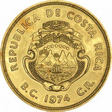 Χρυσό νόμισμα Κόστα Ρίκα